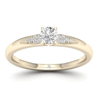 The Diamond Story 18ct Yellow Gold 0.20ct Engagement Ring - Product number 1043528