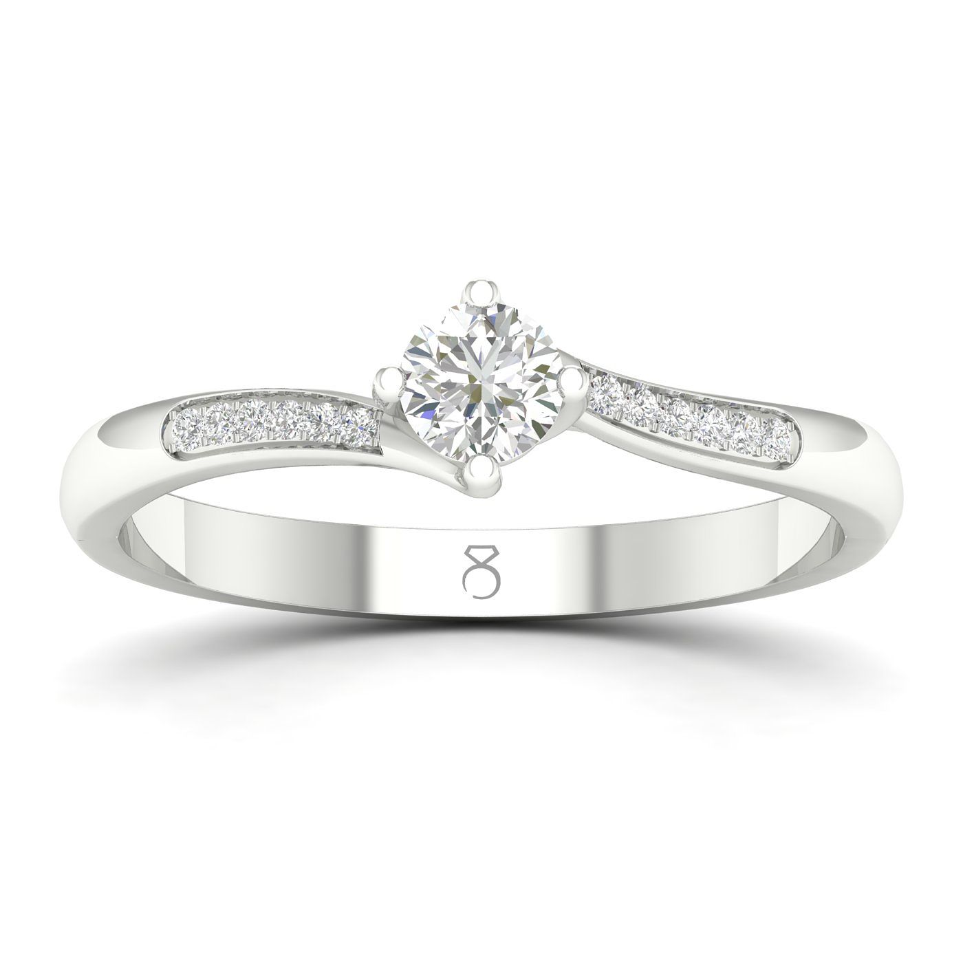 The Diamond Story Platinum 0.20ct Diamond Engagement Ring - Product number 1043684
