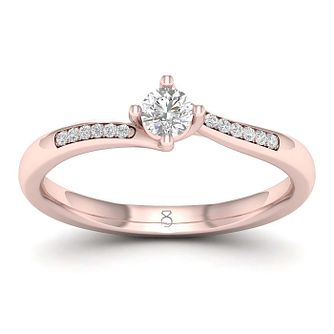 The Diamond Story 18ct Rose Gold 0.20ct Engagement Ring - Product number 1043927