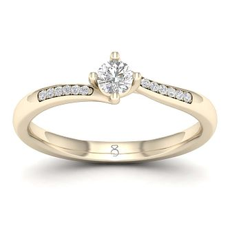 The Diamond Story 18ct Yellow Gold 1/5ct Engagement Ring - Product number 1044389