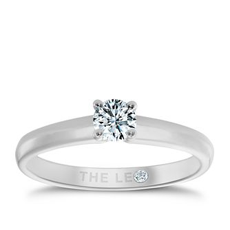 Leo Diamond 18ct White Gold 1/4ct I-I1 Solitaire Ring - Product number 1050605