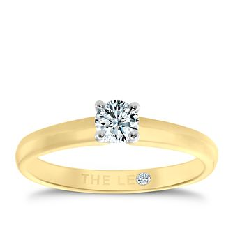 Leo Diamond 18ct yellow & white gold 1/4ct I-I1 ring - Product number 1051008