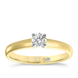 Leo Diamond 18ct yellow & white gold 1/3ct I-I1 ring - Product number 1051121