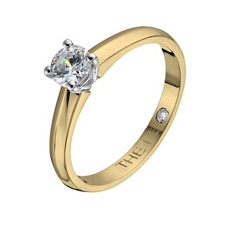 Leo Diamond 18ct Yellow & White Gold 2/5ct I-I1 Ring - Product number 1051253