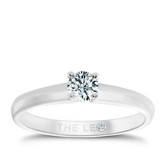 Leo Diamond Platinum 1/4ct I-I1 Solitaire Ring - Product number 1051393