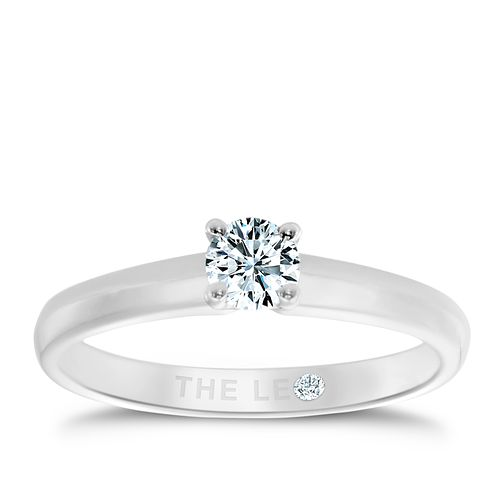 Leo Diamond Platinum 1/3ct I-I1 solitaire ring - Product number 1051520