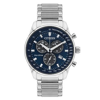 Citizen Men's Blue Dial Chronograph Bracelet Watch - Product number 1053957
