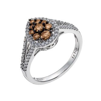 Le Vian 14ct White Gold 0.69ct White &Chocolate Diamond Ring - Product number 1056174