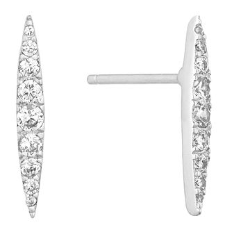 484b66d98628 Silver Cubic Zirconia Double Point Stud Earrings - Product number 1058258