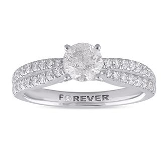 The Forever Diamond Platinum 1ct Total Ring - Product number 1058428