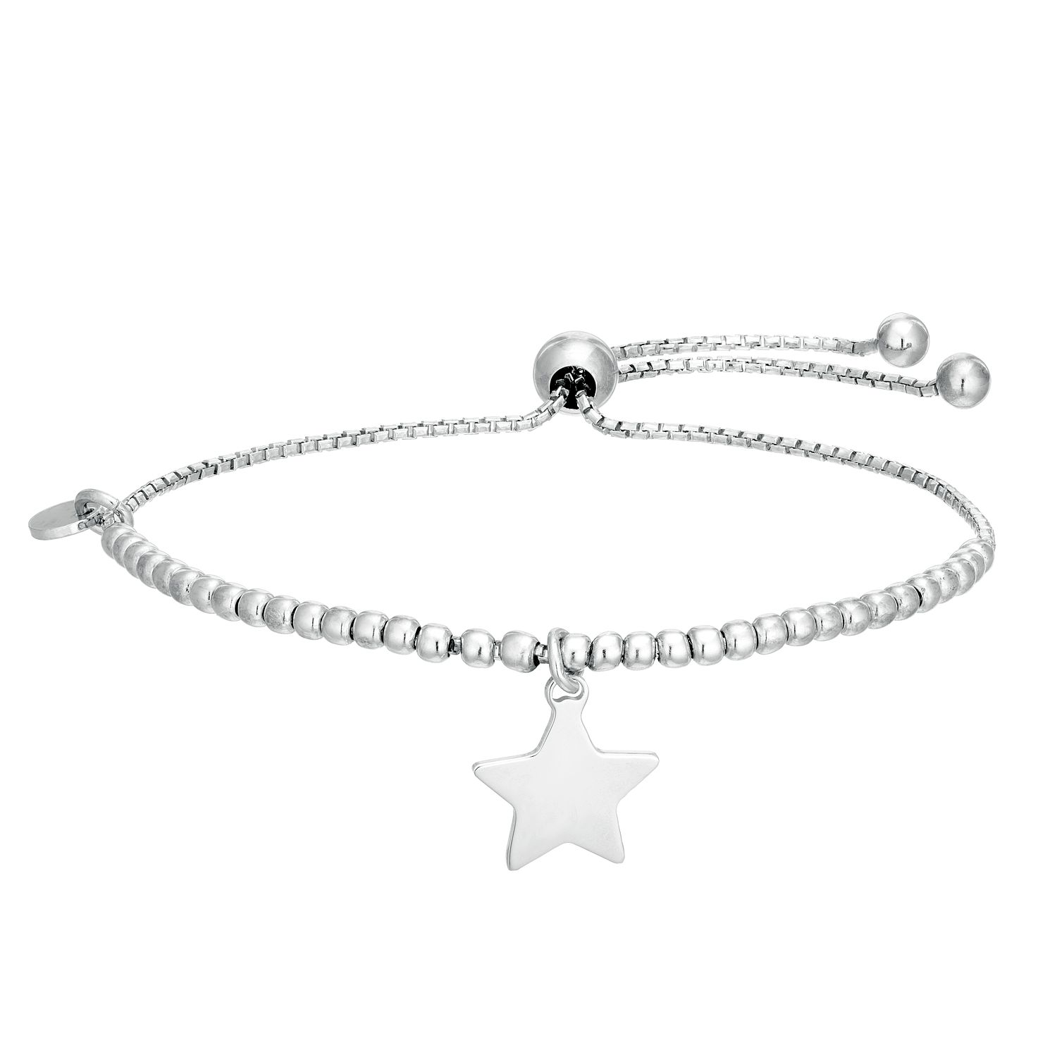 Silver Star Adjustable Ball Bracelet - Product number 1059130