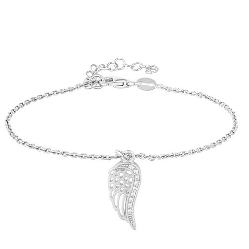 Silver Cubic Zirconia Wing Bracelet - Product number 1059165