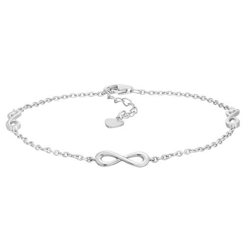 Silver Rhodium Infinity Symbol Bracelet - Product number 1059203
