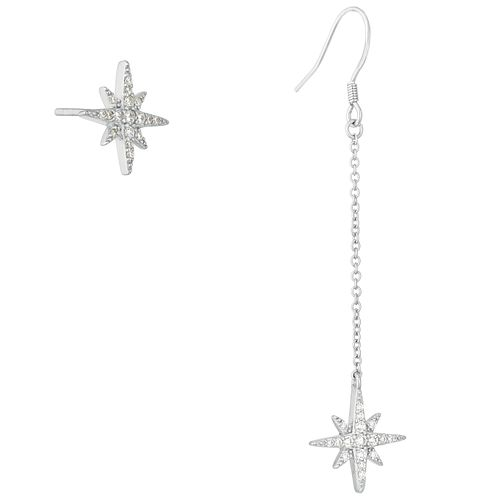 Silver Cubic Zirconia Star Earring Set - Product number 1059270