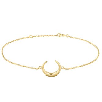 Silver Yellow Gold Plated Horn Bracelet - Product number 1059327