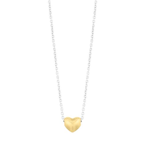 Silver Yellow Gold Plated Tiny Heart Pendant - Product number 1059564