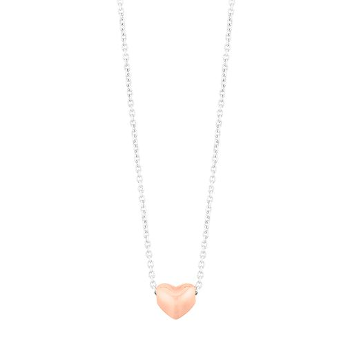 Silver Rose Gold Plated Tiny Heart Pendant - Product number 1059572