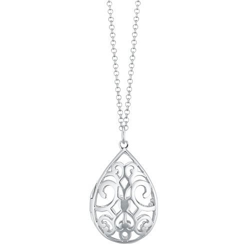 Silver Filigree Fine Chain Locket - Product number 1059637