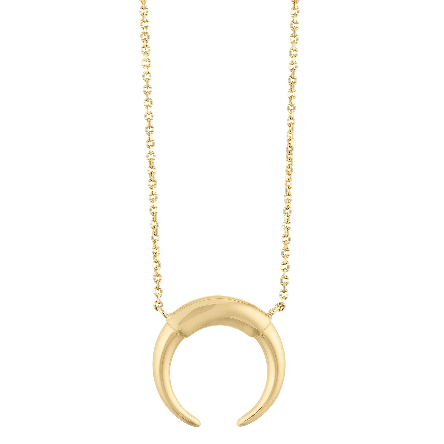 Silver Yellow Gold Plated Horn Pendant - Product number 1059688