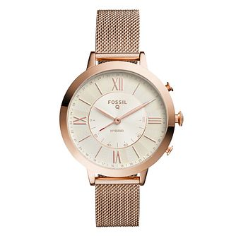 Fossil Smartwatches Jacqueline Rose Gold Tone Hybrid Watch - Product number 1061011