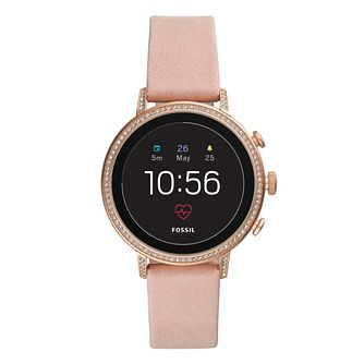 Fossil Smartwatches Venture Gen 4 Ladies' Pink Strap Watch - Product number 1061054
