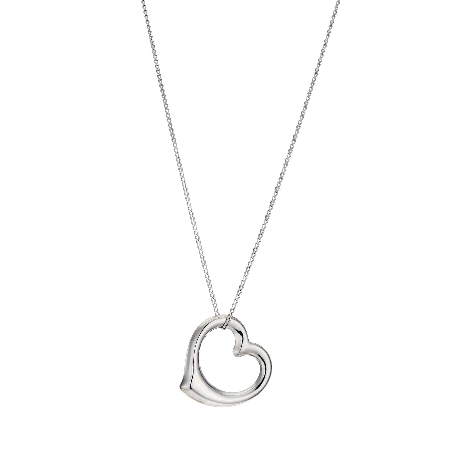 9ct White Gold 18 inches Swinging Heart Pendant - Product number 1063960