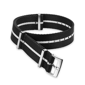 Omega Black and White Nato Strap 19.5mm - Product number 1064436