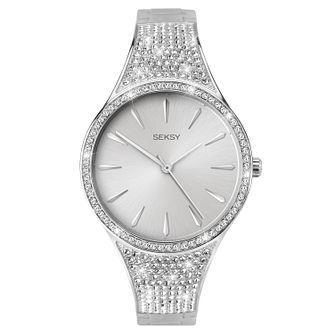 Seksy Rhodium Plated Bracelet Watch - Product number 1065408