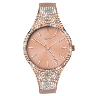 Seksy Rose Gold Plated Bracelet Watch - Product number 1065432