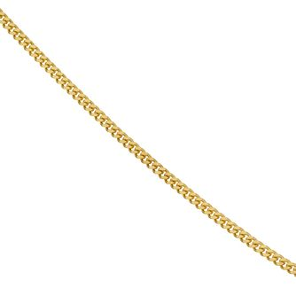 "9ct Yellow Gold 20"" Solid Curb Chain Necklace - Product number 1065564"