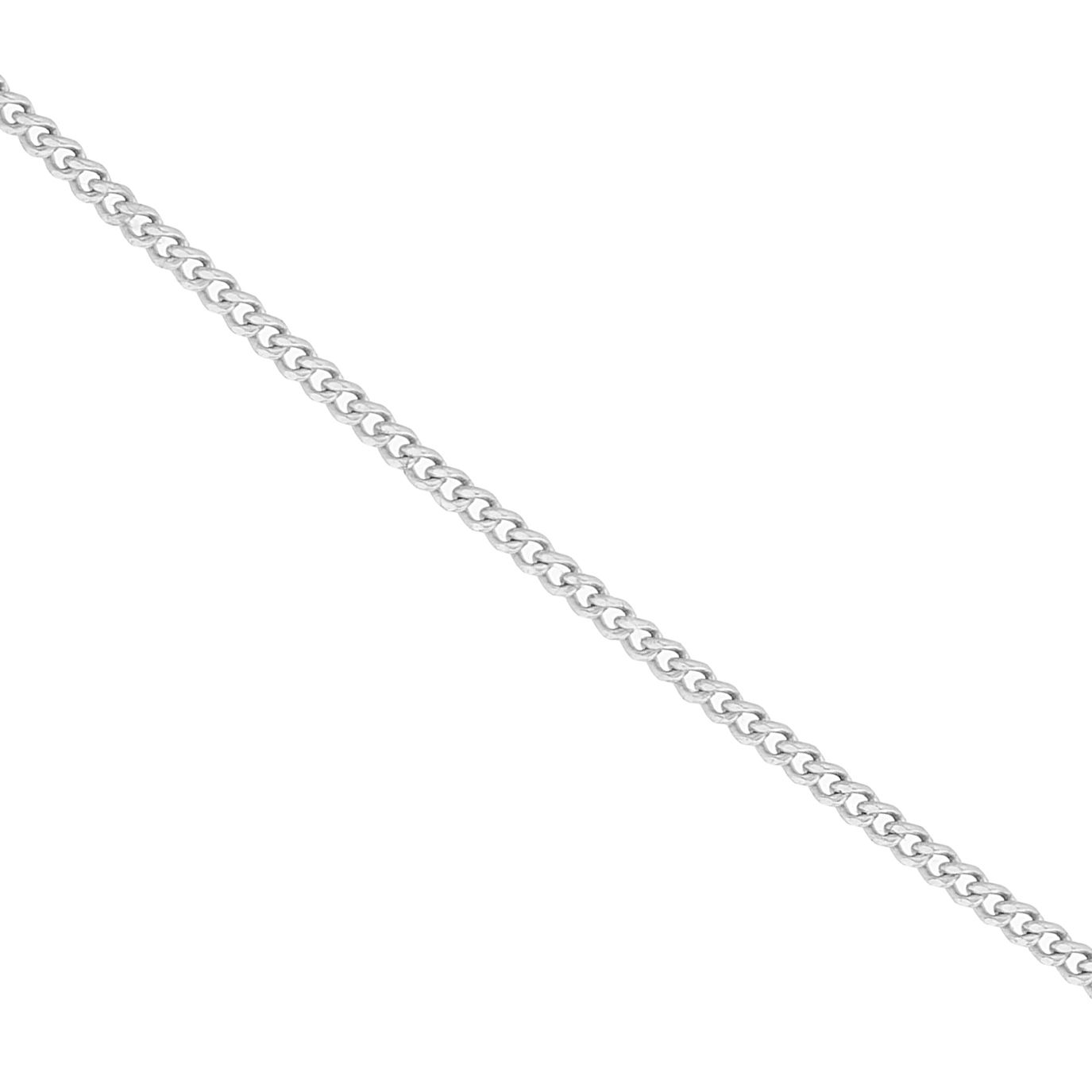 9ct White Gold 18 Inch Curb Chain - Product number 1065572
