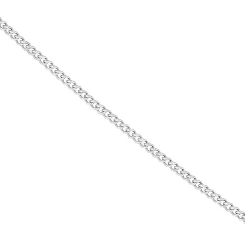 "9ct White Gold 18"" Curb Chain Necklace - Product number 1065572"