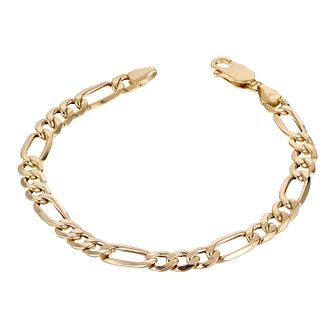 9ct Yellow Gold 7.25 Inch Figaro Chain Bracelet - Product number 1065629