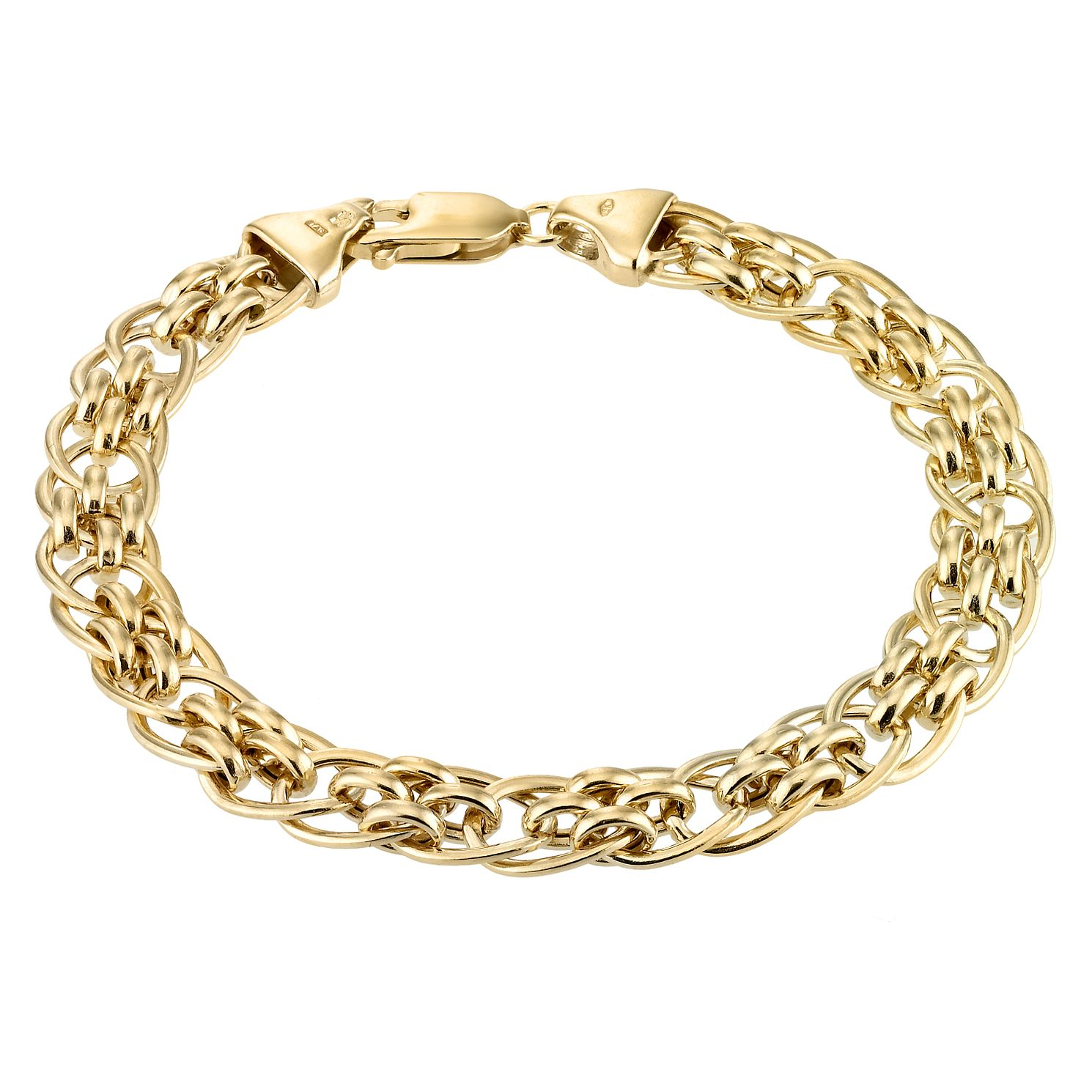 9ct Yellow Gold 7.5 inches Fancy Panther Chain Bracelet - Product number 1065637