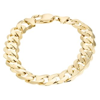 9ct Yellow Gold 8.5 inches Solid Curb Bracelet - Product number 1065645