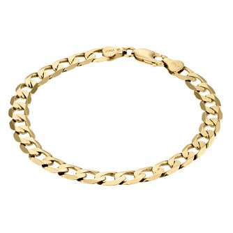 9ct Yellow Gold 8 inches Curb Bracelet - Product number 1065726