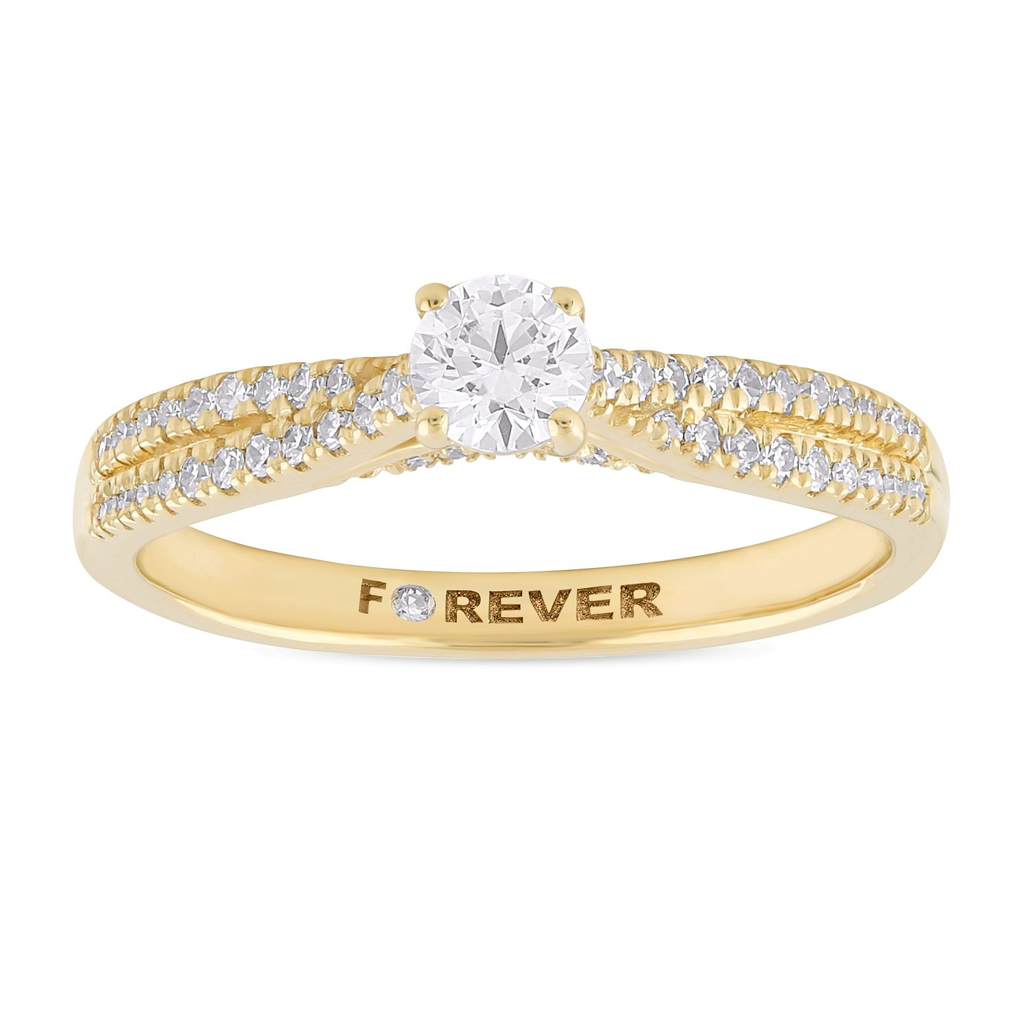The Forever Diamond 18ct Yellow Gold 0.40ct Total Ring - Product number 1065890
