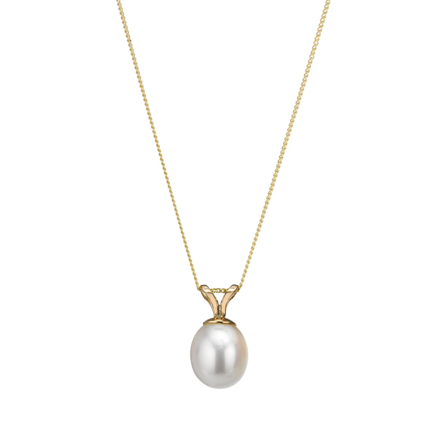 9ct Yellow Gold 18 inches Culture Freshwater Pearl Pendant - Product number 1066080