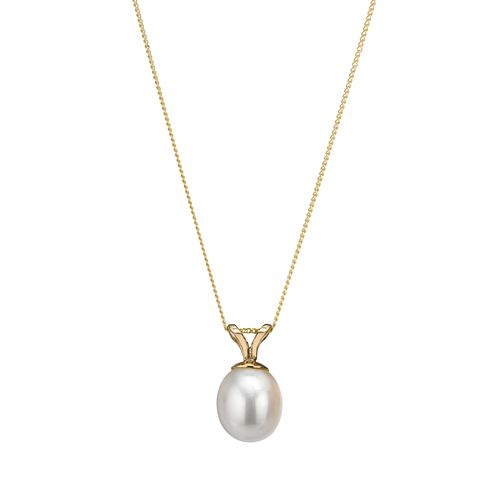 "9ct Yellow Gold 18"" Culture Freshwater Pearl Pendant - Product number 1066080"