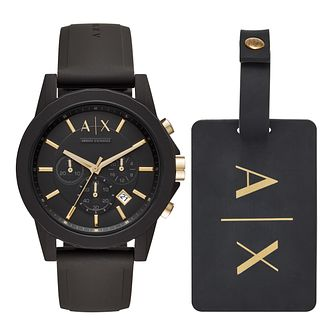 Armani Exchange Men's Silicone Strap Watch Set - Product number 1066145