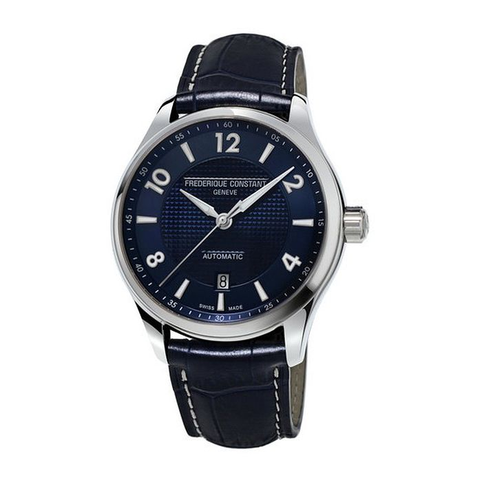 Frederique Constant Runabout Men's Navy Leather Strap Watch - Product number 1068768