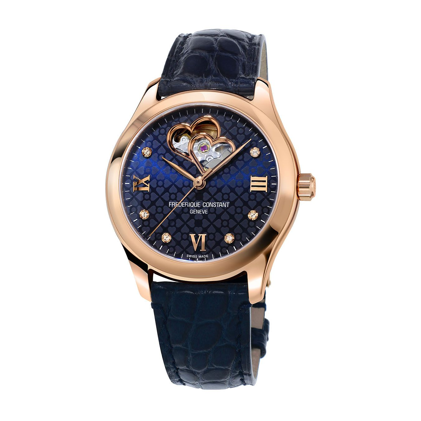 Frederique Constant Ladies' Heart Blue Leather Strap Watch - Product number 1068784
