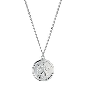 Sterling Silver 18 inches St Christopher Necklace - Product number 1070606