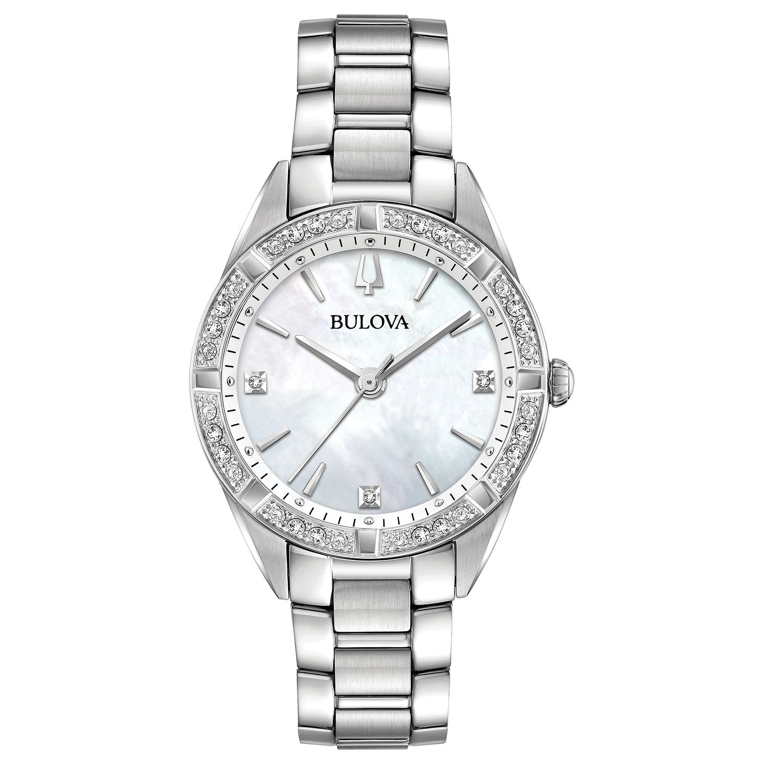 Bulova Sutton Ladies' Diamond Mother Of Pearl Bracelet Watch - Product number 1073745
