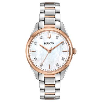 Bulova Sutton Ladies' Diamond Two-Tone Bracelet Watch - Product number 1073753