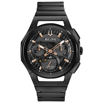 Bulova Curv Men's Chronograph Stainless Steel Bracelet Watch - Product number 1074202