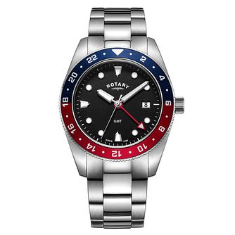 Rotary GMT Men's Stainless Steel Bracelet Watch - Product number 1074210