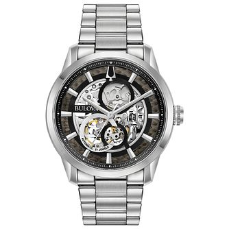 Bulova Men's Sutton Skeleton Stainless Steel Bracelet Watch - Product number 1074326