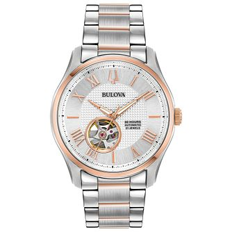 Bulova Wilton Men's Two-Tone Automatic Bracelet Watch - Product number 1074350