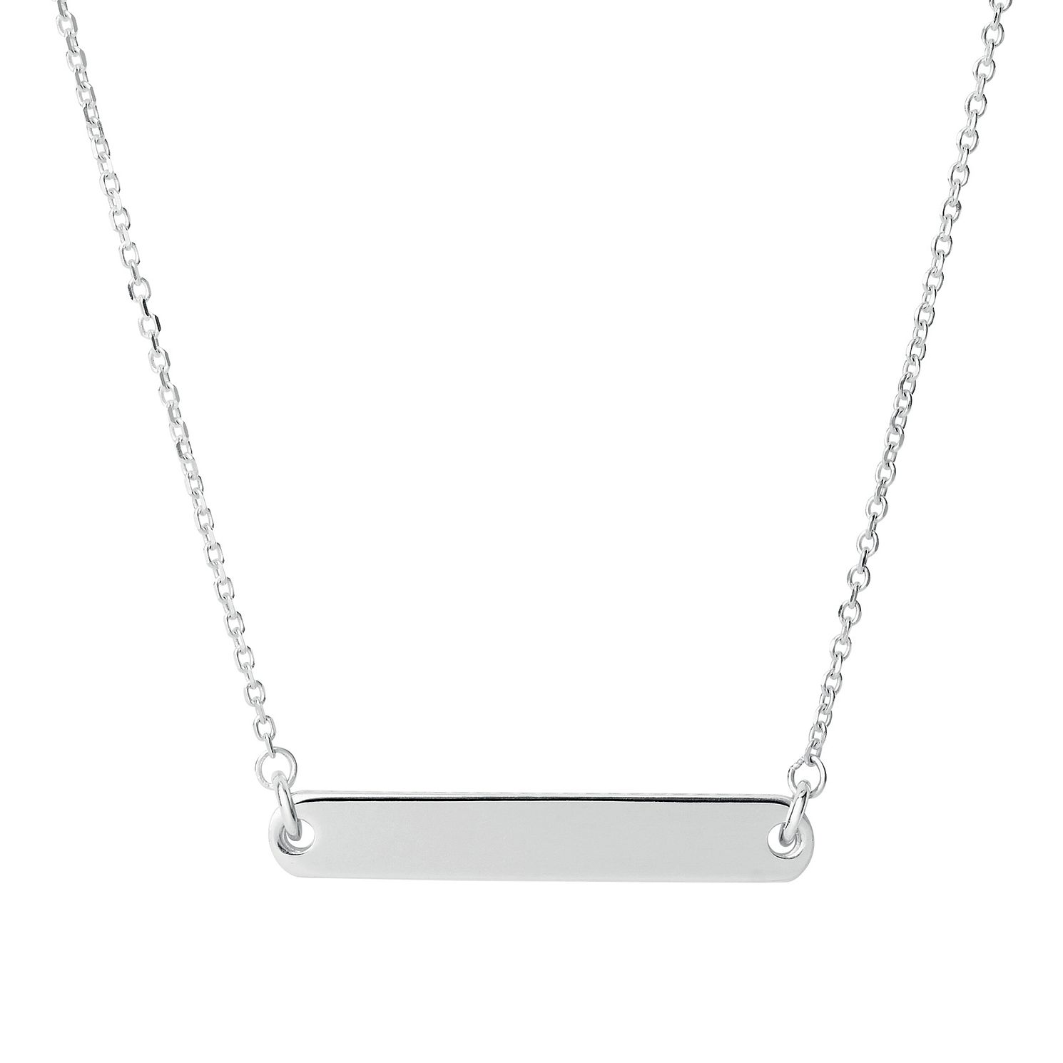 Links Of London Narrative Sterling Silver Short Bar Necklace - Product number 1074407